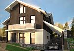 Дом с цоколем К240