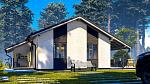 Одноэтажный дом из газобетона 48м2